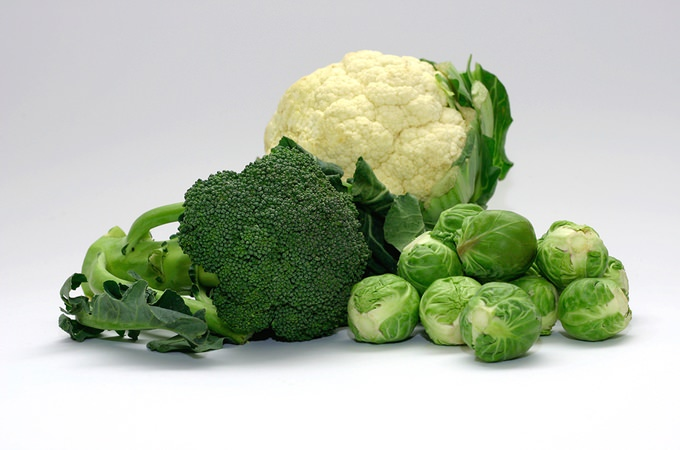 Broccoli, Cauliflower, Cabbage and Brussels Sprouts