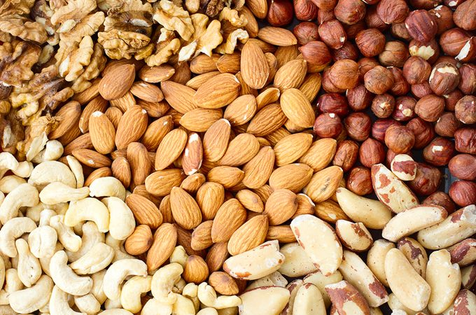 Almonds and other nuts