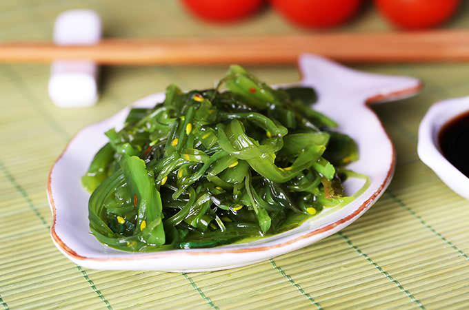 bigstock-Seaweed-salad-in-plate-on-bamb-80486987