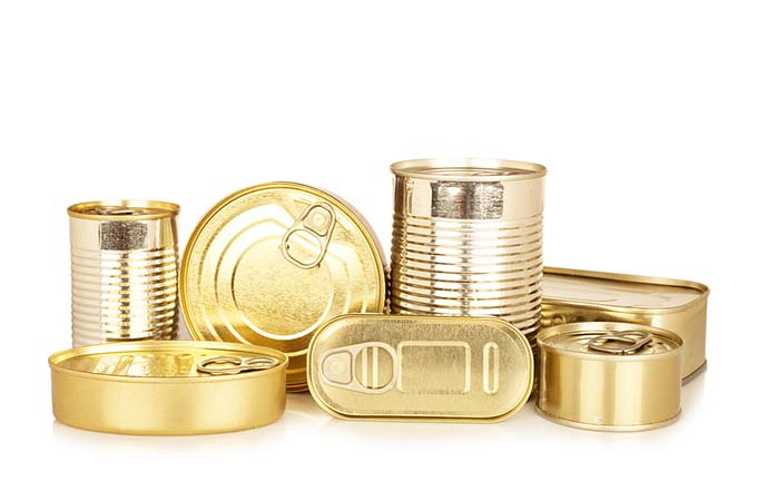 bigstock-Assortment-Of-Golden-Food-Tin--5413570