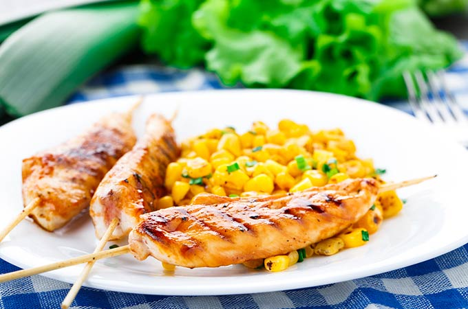bigstock-Honey-chicken-skewers-with-gri-53678233