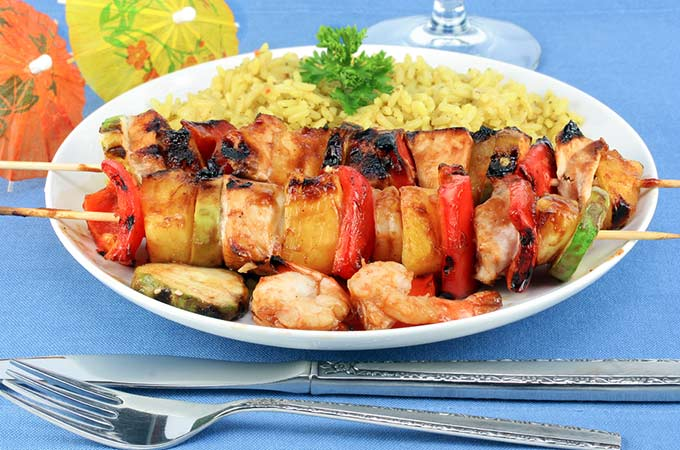 bigstock-Shrimp-Pineapple-And-Chicken--5756380