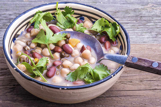 bigstock-Mixed-Beans-Soup-With-Fresh-Ci-91971200