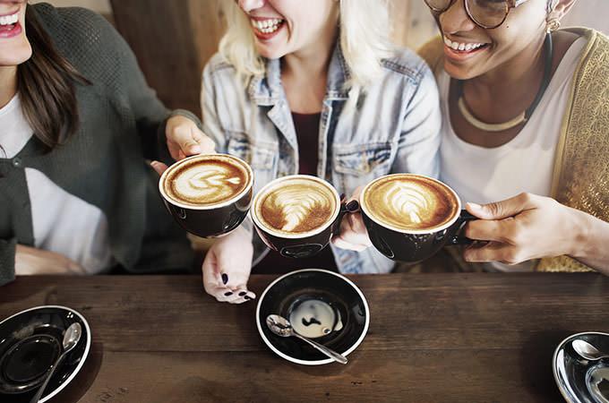 bigstock-Women-Friends-Enjoyment-Coffee-115250735